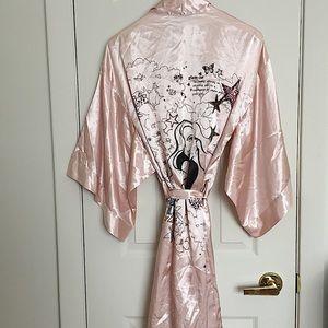 LA SENZA Pink Satin Robe